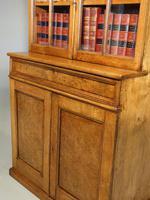 Beautifully Made Late 19th Century Oak & Burr Oak Small Bookcase Cabinet (3 of 3)