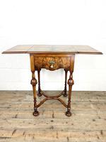 19th Century Walnut Drop Leaf Side Table (8 of 11)