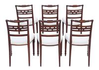 Set of 6 Georgian Mahogany Dining Chairs c.1820 (2 of 7)