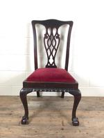 Antique Chippendale Revival Style Carved Chair