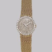 Bueche Girod for Roy King Diamond Bracelet Watch Ladies Vintage 9ct Gold 1.5 carat Diamond Watch Hallmarked 1979 (5 of 19)