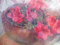 Oil on Board Azaelas in a Pot Listed Artist Richard Sorrell RWS (5 of 12)