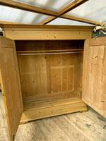 Big! Old 19th Century Pine Double Door Wardrobe - We Deliver & Assemble! (6 of 14)
