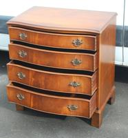 1960's Mahogany Serpentine Front Small Chest of Drawers (2 of 4)