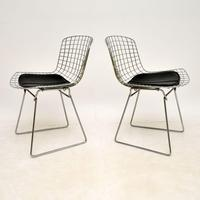 Pair of Vintage Wire Chairs by Harry Bertoia (3 of 10)