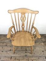 Early 20th Century Antique Beech Farmhouse Armchair (3 of 10)