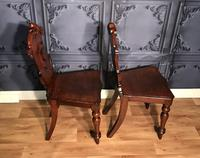 Pair of Victorian Mahogany Hall Chairs 318 (5 of 14)