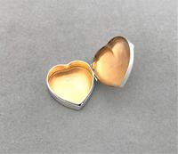 Victorian Silver Heart Shaped Pillbox (4 of 4)