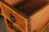Queen Anne Style Burr Walnut Concave Writing Desk (3 of 18)