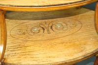 Elegant Inlaid Satinwood Étagère Two Tier Table c.1890 (5 of 6)