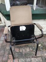 Three Vintage Metal Cinema Type Chairs (5 of 6)