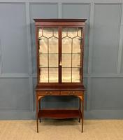 Inlaid Mahogany Display Cabinet by Shapland and Petter (14 of 21)