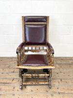Antique Gentleman's Rocking Chair (4 of 9)