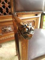 Italian Neo Renaissance Desk, Study Furniture Gothic (9 of 10)