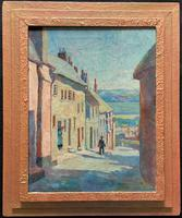 Superb! Great Provenance! 1938 Oil Painting of a Postman in Bovey Tracy, Devon