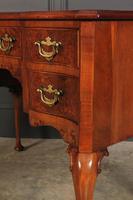 Queen Anne Style Serpentine Walnut Writing Desk (12 of 17)