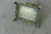 Fine Small Aesthetic Movement Brass Inkwell c.1890 (6 of 7)