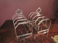 George VI Period Pair of Silver Toast Racks (5 of 6)