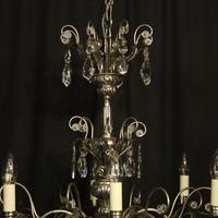 Italian Silver & Crystal Genoa 8 Light Chandelier (10 of 10)