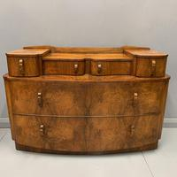 Art Deco Bow Front Chest of Drawers in Walnut (8 of 8)