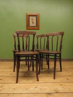 Four Antique Polish Thonet Style Bentwood Bistro Chairs with Pressed Seats (14 of 22)