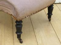 Antique French Slipper Fireside Chair For Re-upholstery (4 of 9)