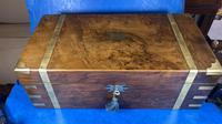 Victorian Brass-bound Walnut Writing Slope with Secret Drawers (30 of 39)