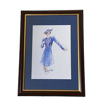 Set of 9 Original Drawings by Ian Thomas - Dressmaker for the Royal Family (9 of 9)