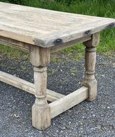 Rustic Bleached Oak French Farmhouse Dining Table (4 of 34)