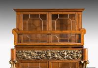 Mid 19th Century Satinwood Cabinet with Elaborate Giltwood Decoration (3 of 7)