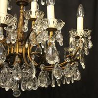 Italian 18 Light Gilded Brass Antique Chandelier (6 of 10)