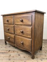 Antique Mahogany Chest of Six Drawers (4 of 9)