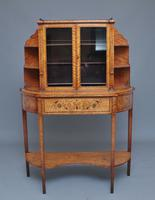19th Century Satinwood Display Cabinet