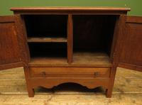 Antique Oak Continental Cupboard with Drawer for TV or Drinks, Lockable (8 of 14)
