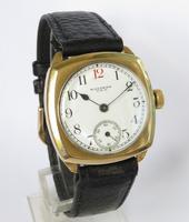 Gents 9ct Gold Waltham Wrist Watch, 1930 (2 of 5)