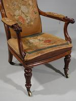 Shapely Mid 19th Century Rosewood Armchair (2 of 5)