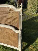 Kingsize Painted & Caned French Bed (8 of 9)