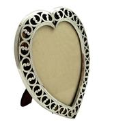 """Antique Victorian Sterling Silver & Tortoiseshell 7"""" Heart Photo Frame 1894 (2 of 10)"""