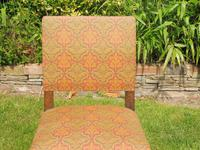 8 Waring & Gillow Chairs Oak William Morris Fabric (5 of 10)