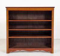Pretty Mahogany Inlaid Open Bookcase