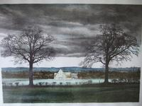 """George Guest (1939-2020): lithograph entitled """"Great Barn"""" (2 of 4)"""