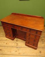 Victorian Antique Pedestal Desk, Hobbs & Co London (15 of 24)