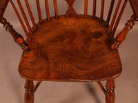 Yew Wood low Windsor Chair Rockley Maker (6 of 10)