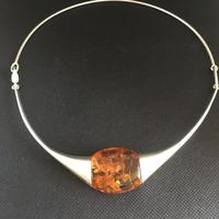 Lapponia Sterling Silver & Amber Necklace (2 of 4)