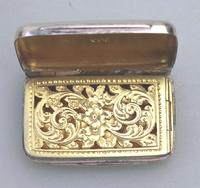 Attractive Victorian Engraved Solid Silver Vinaigrette London c.1877 (2 of 8)