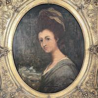 Antique Georgian Early Victorian Oil Painting Portrait of a Society Lady (4 of 10)