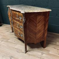 Beautiful French Louis XVI Style Tulip wood marble top commode (9 of 12)