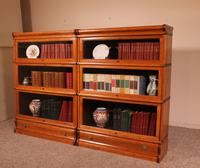 Pair Of Low Stacking Bookcases In Light Oak Globe Werknicke Late 19th Century (9 of 10)
