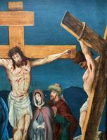 Superb 19th Century Old Master Biblical Christ Oil Portrait Painting - Gothic Oak Frame (11 of 17)