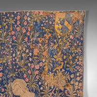Large Antique Tapestry, French, Needlepoint, Decorative Wall Covering c.1920 (8 of 12)